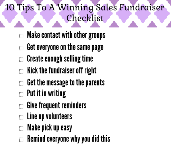 10 Tips To A Successful Sales Fundraiser