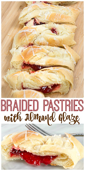 Butter Braid Pastries and Almond Glaze Recipe