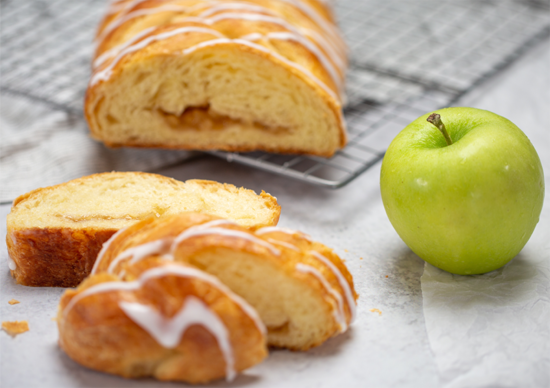 Apple Butter Braid Pastry