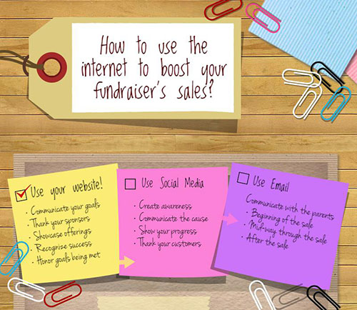 How to use the internet to boost your fundraiser's sales?