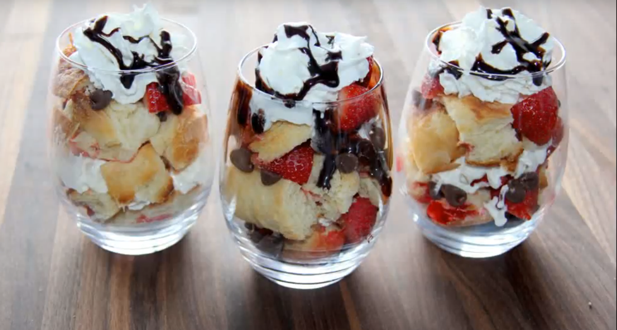 Bite-Size Butter Braid® Pastry Trifle