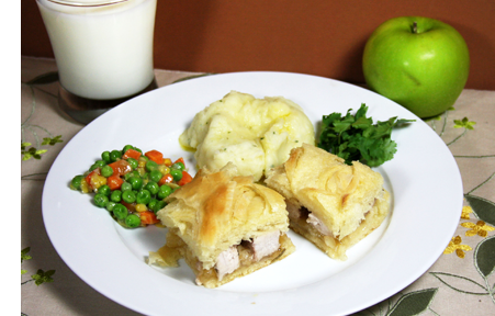 Apple Pastry Pork Chop Sandwich