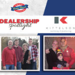 Kittelson Marketing Company Dealership Spotlight - picture of Kittelson family and company logo