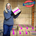 Fundraising Delivery Day - dealer with butter braid pastry boxes and butter braid logo